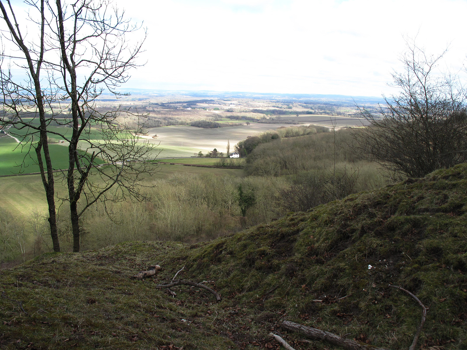 View from the South Downs across the Low Weald