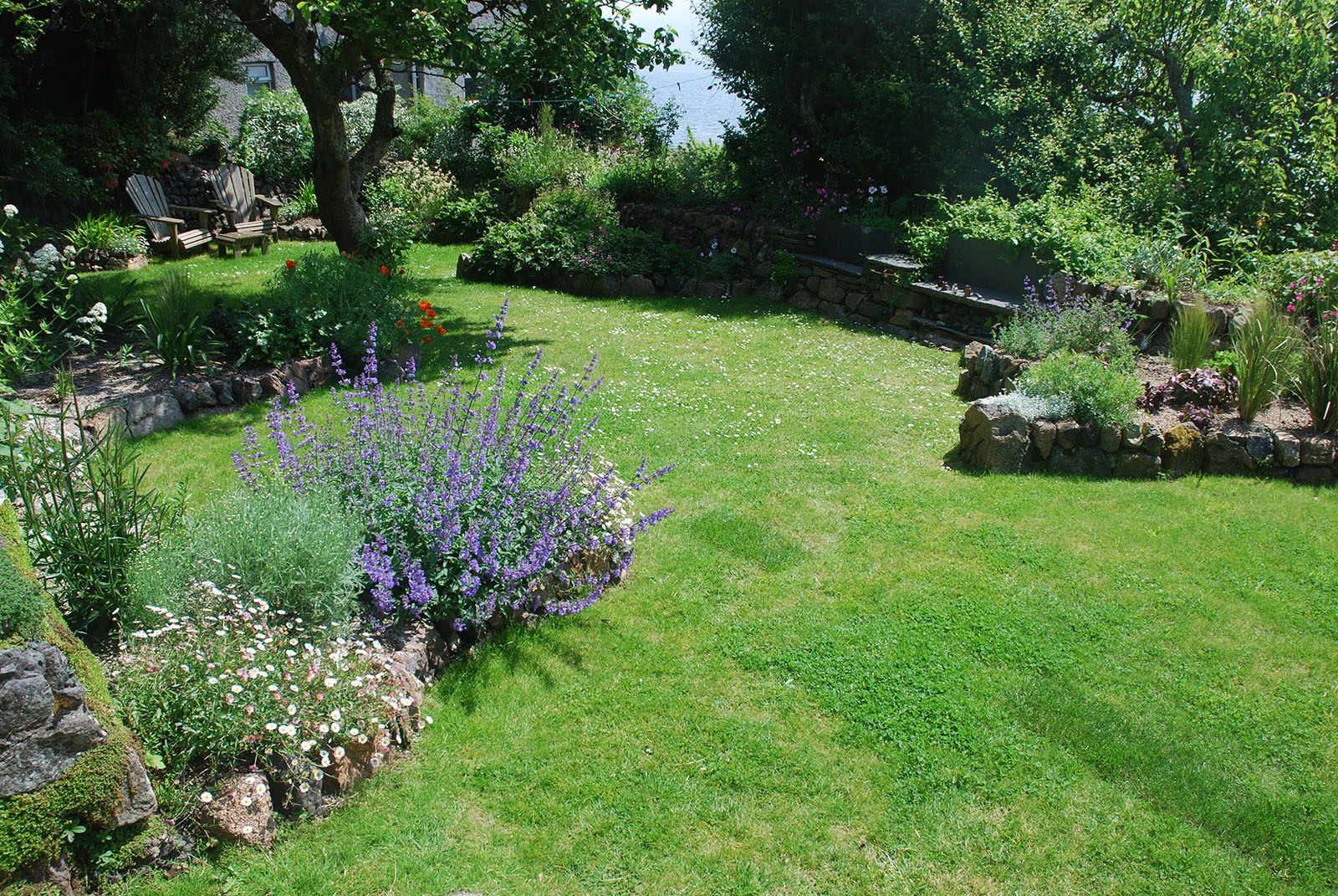 View down the newly renovated garden Coverack