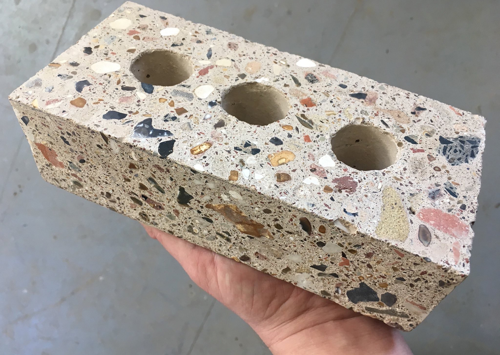 Brick made with waste materials